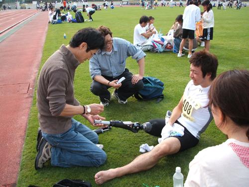スポーツ用義足の画像